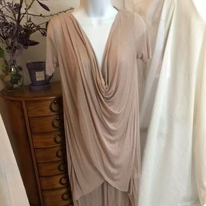 NWOT  Very thin and lightweight wrap dress size S